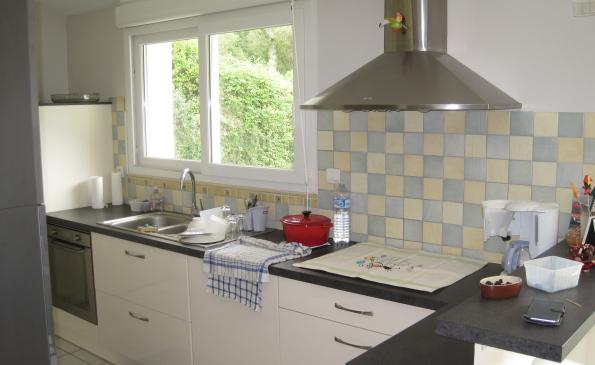 cuisine ouverte maison gouesnach calme résidentiel